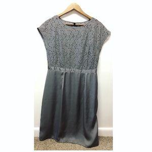Tevolio | Floral Lace Top Bridesmaid A-Line Dress